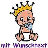 Bunter Babyaufkleber mit Wunschtext - Motiv B733
