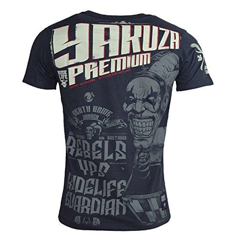 Yakuza Premium Herren REBELS YPS RIDELIFE GUARDIAN T-Shirt YPS - 2311 Black Black