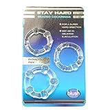 eeddoo® Penisringe & Cockringe - 3 Größen - Transparent - mit Noppen (Penis Cock Pleasure Ring G-Punkt Stimulator Sexspielzeug für Männer & Frauen)