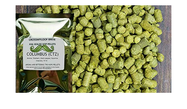 100g of The Freshest USA Pellet Variety 2019 Crop Craft Ale Ingredients for Beer Brewing Use at Boil Or Dry Hopping for A Perfect Flavouring to Your Finished Beer Columbus Hop Pellets