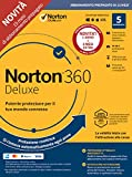 Norton 360 Deluxe 2020 Antivirus Software per 5 Dispositivi e 15 mesi di Abbonamento con Rinnovo Automatico Secure VPN e Password Manager PC, Mac, Tablet e Smartphone