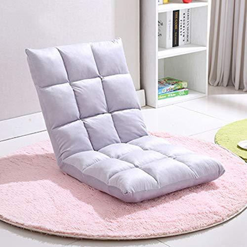 Bodenstuhl Faltbare Verstellbare Bodenliege Sleeper Futon Matratze Stuhl Tatami Klappsofa Rückenlehne Fenster Stuhl Lazy Chair Bodenstuhl,Gray-50 * 100 * 12cm