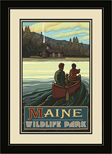 Northwest Art Mall pal-1028mfgdm lkch Maine Wildlife Park-See Canoers Hills gerahmtes Wandbild Art von Künstler Paul A. lanquist, 13von 40,6cm