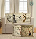 Best LIFE Home Sofa Sets - STITCHNEST Life quotes Digitally printed, Jute Material, Fawn Review