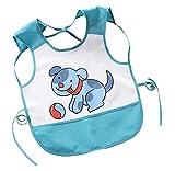 wasserdichte Baby Säugling Kittel Essen Malerei Lätzchen - Blue Elephant