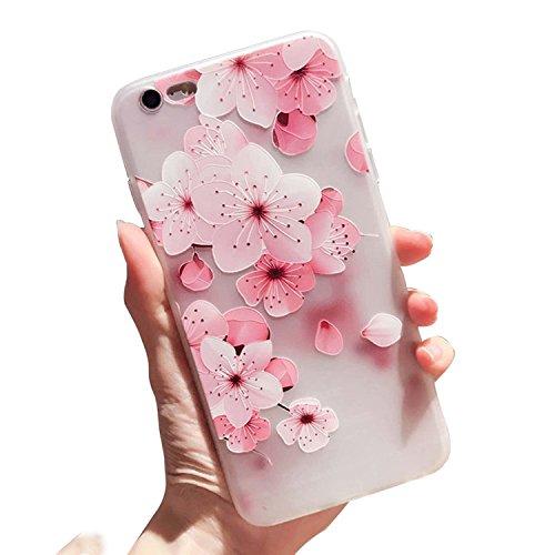 Für iPhone 6+ Plus Hülle, Vandot Ultra Slim Luxury glitter Crystal Bling Funkeln Diamond Box mit Anhänger schöne Boden Blumen von Cherry von Ring Soft TPU Silikon Cover Case für iPhone 6+ Plus Matte-3
