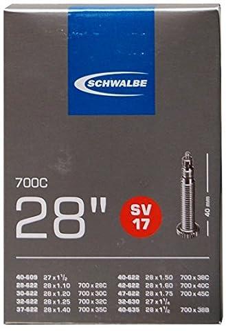 Schwalbe Fahrradschlauch SV17 28/47-622/635 EK 40 mm, 10429343V