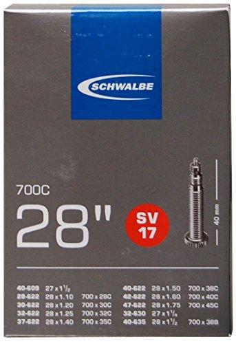 Schwalbe Fahrradschlauch SV17 28/47-622/635 EK 40 mm Schlauch Schwarz 28 Zoll