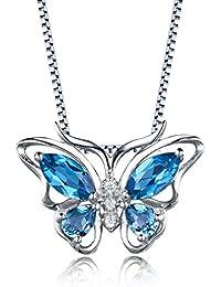 Aurora Tears Damen Zirkonia Anhänger Halskette mit Kette 925 Sterling Silber  18K Weißgold Kristalle 6d115db7d7