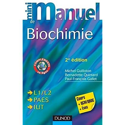 Mini Manuel de Biochimie - 2e éd. : Cours + QCM/QROC + exos (Sciences de la Vie)