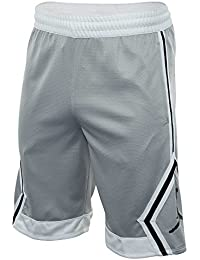 Nike Rise Diamond, Short Hombre, Hombre, 887438, Wolf Grey/Bianco/Wolf Grey/Nero, XX-Large