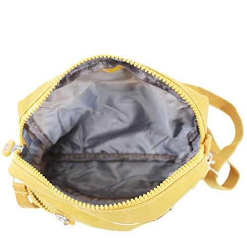 Hautefordiva , Damen Schultertasche khaki S gelb