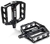 AARON Rock Plattform Mountainbike / MTB Pedale mit hochwertiger Lagerung und top Grip, Trekking Fahrradpedale, Schwarz