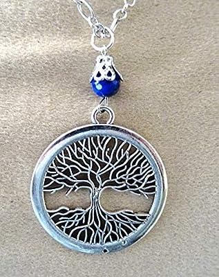 sautoir arbre de vie lapis lazuli