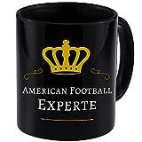 Tasse American Football Experte schwarz