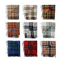 BNWT Scottish Throw Large Wool Tartan Rug - Range of Tartans / Colours from The Scotland Kilt Company