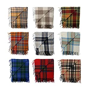 BNWT Scottish Throw Large Wool Tartan Rug - Range of Tartans / Colours from The Scotland Kilt Company