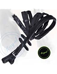Runners Rubberized Reins./ Buffalo Leather./ Stainless Steel Buckles.