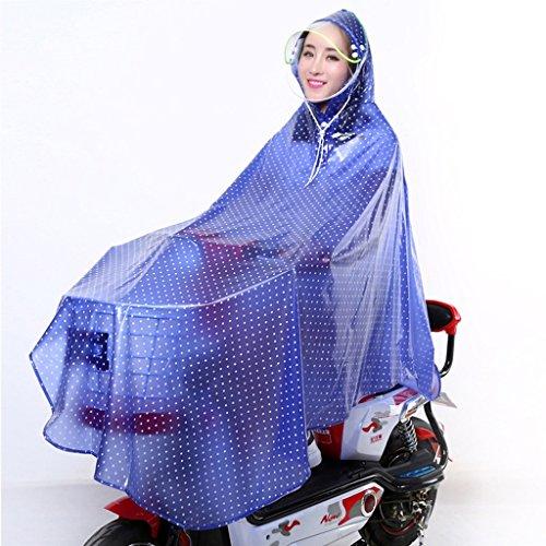 LT Single Raincoat Electric Bicycle Cycling Poncho Detachable Cap Transparent