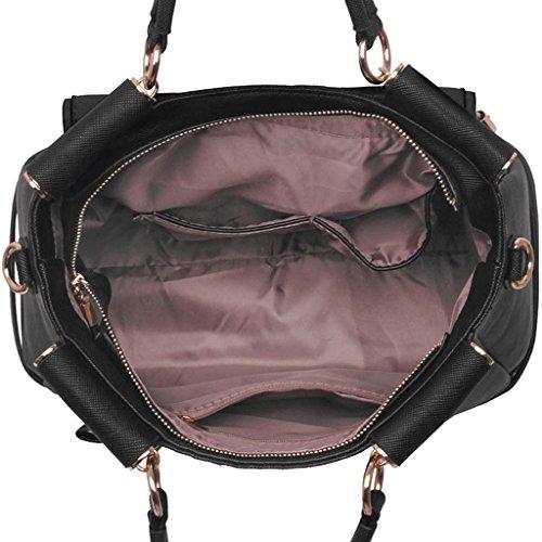 Neu Frauen Entwerfer Handtaschen Damen imitat Leder Schulter für Leinentrage Greifer Taschen Marine 1