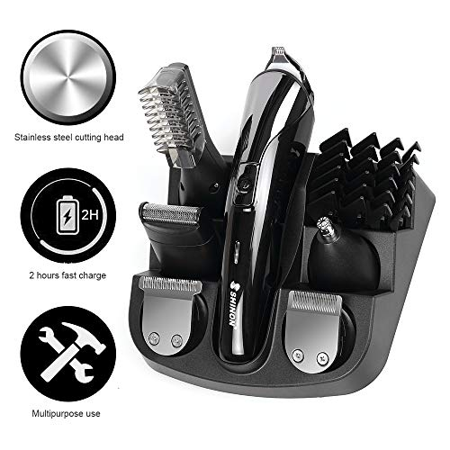 Bart Trimmer Herren - Haarschneidemaschine profi rasierer herren elektrisch Set für Männer Bartschneider Körperhaartrimmer Präzisionstrimmer Rasierer Wiederaufladbare Trimmaufsätzen