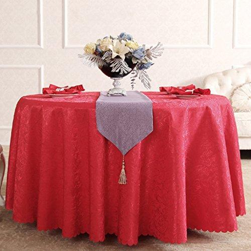 BSNOWF- Nappes Activités Lieu Stand d'exposition Hôtel Nappe de table Banquet Réunion de mariage Nappe ronde grande Tissu de fibre chimique Style européen Taille En option ( Couleur : F , taille : Round-340cm )