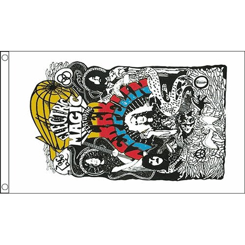 LED ZEPPELIN Bandiera 1,5x 0,9m Concerto Striscione con 2occhielli in metallo