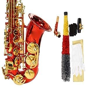 Saxophone Alto - MBAT élégant rouge Carve Patterns E