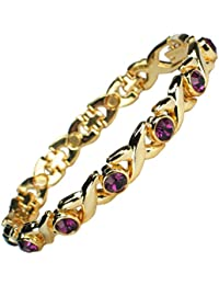 MPS® Ladies JAMAIN Lilac Cystals Magnetic Bracelet + Free Links Removal Tool