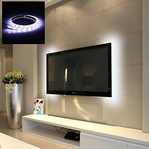 Vansky led retro tv bias light strisce led illuminazione retro tv bianco brillante - Strisce a led per interni ...