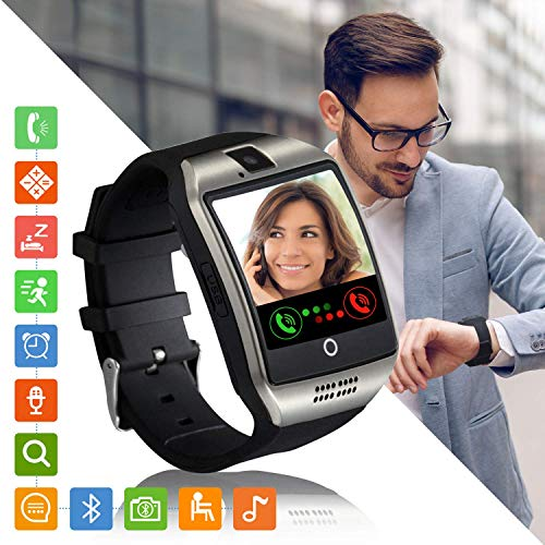 Montre Connectée Femmes Homme Enfant Bracelet Connecté Smartwatch Soutien Carte SIM Synchronisation Appels SMS Notifications Smart Watch Compatible Android Samsung Xiaomi Huawei iPhone (Argent)