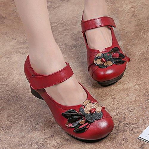 Socofy Cuir Chaussures Noire Voir De 36 En 42 Poiture Jane Escarpins Talon FemmeMary À Ville Sandales Moyen Fleurs Rougegrille 2HeYW9IEDb