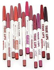 CINEEN Qualite Professionnelle 12pcs Multicolore Professionnel Imperméable Crayons A Levre Waterproof Lipliner Crayon Maquillage