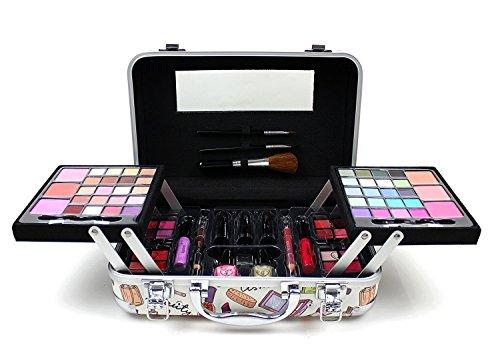 79 Piece Retro Vanity Case Beauty Cosmetic Set Gift Travel Make UP Carry Box Xmas