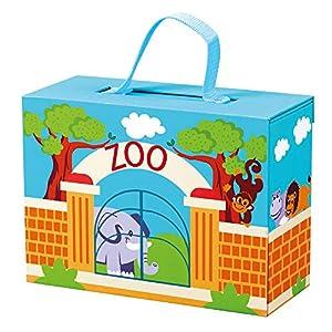 Mertens- Maletín de Viaje con Animales - Zoo, Color carbón (70613)
