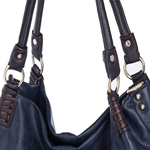 5c6c49d7f873d WISHESGEM Handtaschen Damen Schultertaschen Umhängetaschen Große Crossbody  Hobo Taschen Damen PU Leder Henkeltaschen Shopper (L31CM ...