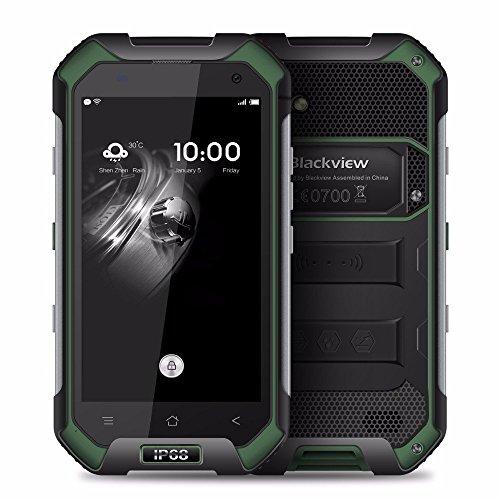 Blackview BV6000 Outdoor Handy 4.7 Zoll IP68 Wasserdichtes Stoßfest Staubdicht 4G Smartphone Android 6.0 MT6755 64Bit Octa Core 2,0 GHz 3GB RAM 32GB ROM 5MP + 13MP dual Kameras Gorilla-Glas 4Outdoor Touch Display Handy