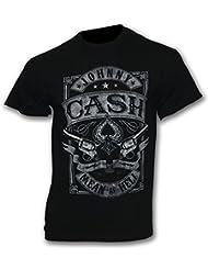 Johnny Cash - T-Shirt MEAN AS HELL Gr. XXL - Bandshirt Rock n Roll