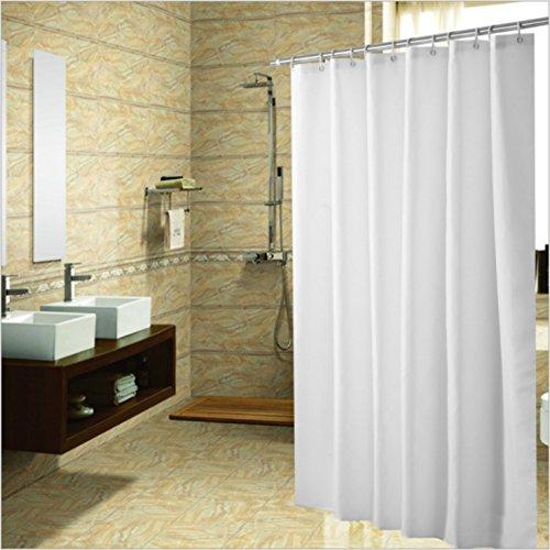 Duschvorhang, aus widerstandsfähigem Stoff Vorhang für die Dusche Lock Loch HEAVY DUTY Badezimmer rutschsicher, schimmelresistent waschbar Polyester Stoff Vorhang für die Dusche, 48