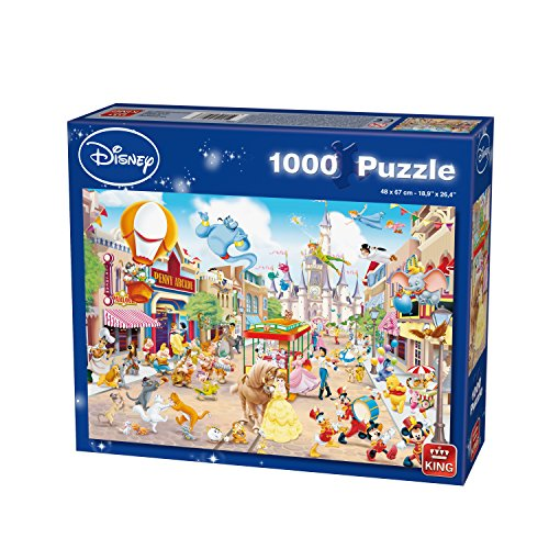 King Disney Disneyland 1000 pcs 1000pieza(s) - Rompecabezas (Jigsaw puzzle, Dibujos, Disney, 8 año(s), Hombre/Mujer, Cartón)