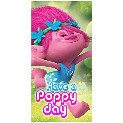 Trolls Poppy toalla de playa, 140x 70cm