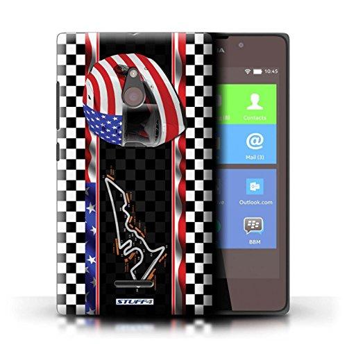 Kobalt® Imprimé Etui / Coque pour Nokia XL / Malaisie conception / Série F1 Piste Drapeau USA/Austin