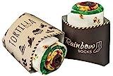 Rainbow Socks - Damen Herren Lustige Tortilla Socken - 2 Paar - Größen EU 36-41