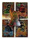 Serie 3 Ninjago Limitierte Gold Karten LE 1 LE 2 LE 3 und LE 4 + Bonus Aufkleber Lloyd