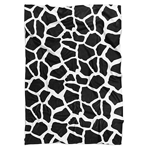 Lumineux Girafe Couverture polaire – doux Couvre-lit en fausse fourrure, blanc, Large Fleece Blanket 80x60in