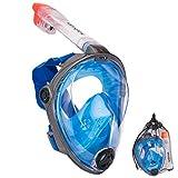 Salvas Vollgesichtsmaske Schnorchel Tauchmaske Full Face Maske Taucher Brille L/XL
