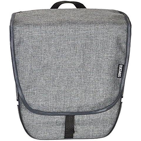 Patrón de bolso Bags Heart Single Blanked portaequipajes para bicicleta (Varios c, gris grafito