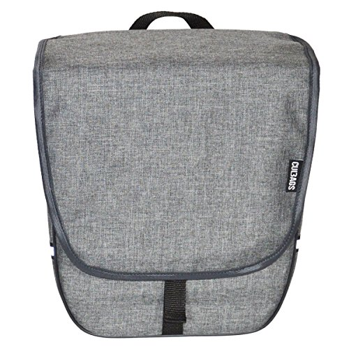 C-BAGS HEART single BLANKED Gepäckträger Fahrradtasche Tasche verschiedene Muster Grey