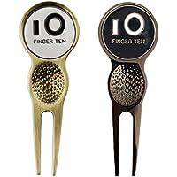 Dedo diez nuevos Golf herramienta para reparar piques de golf Marcador de pelota con 2colores Value Pack Set, dorado