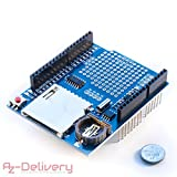 AZDelivery  DatenLogger Modul Logging Schild/Data Recorder/Data Logger Shield für Arduino mit gratis eBook!